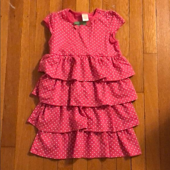Polka dot pink dress